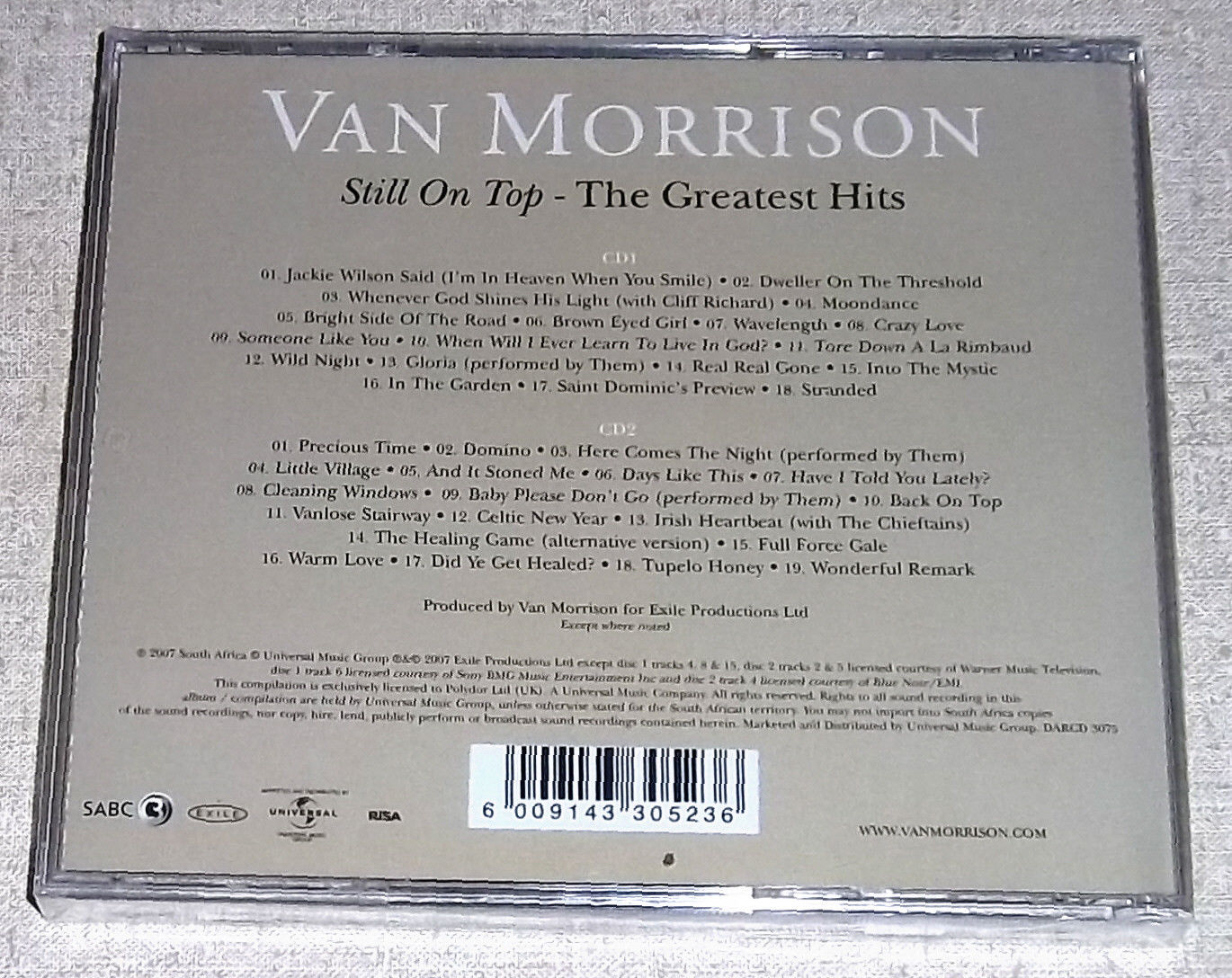 Van Morrison Still On Top The Greatest Hits 2cd South