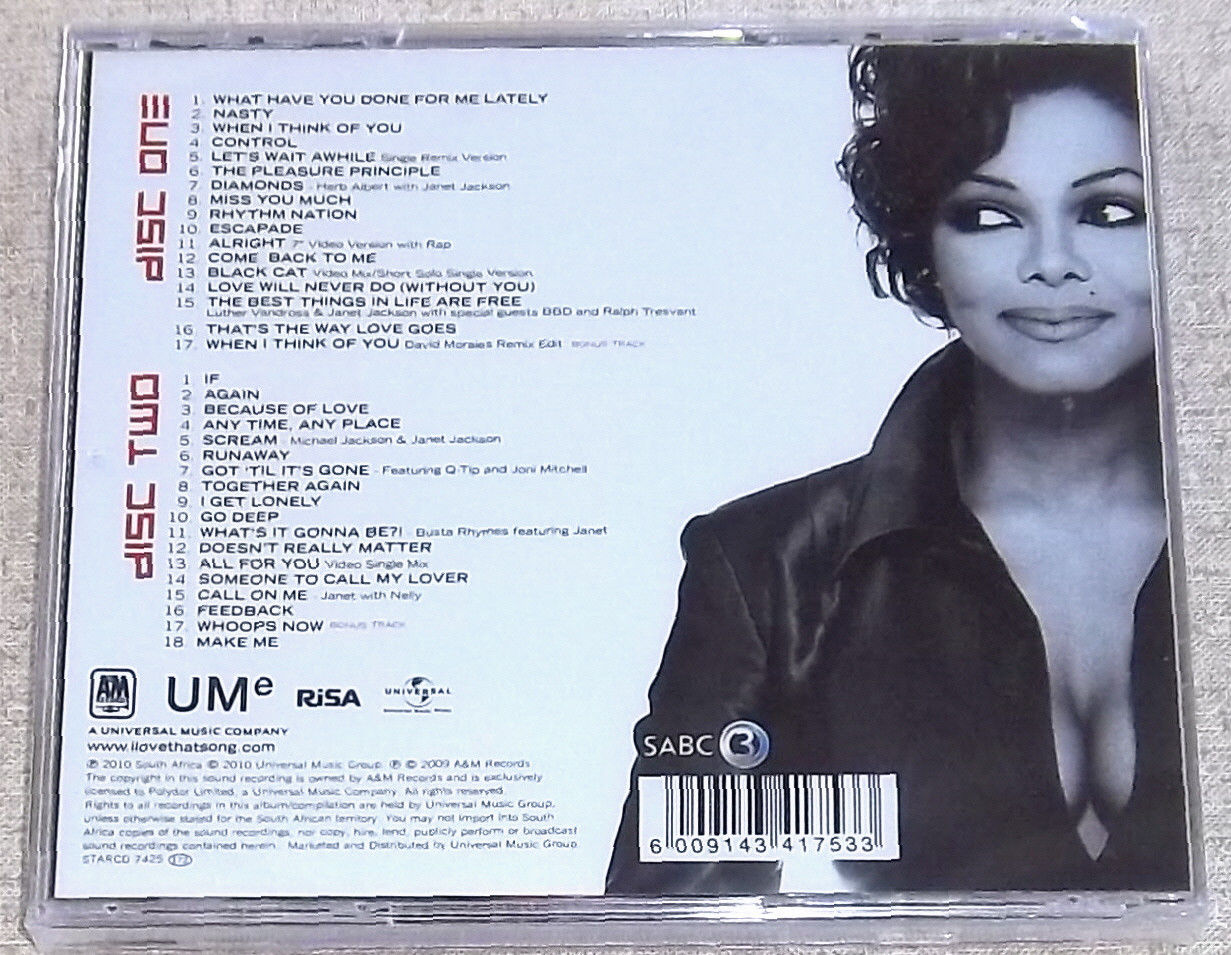 The Favorite White Budget Friendly Curtains: JANET JACKSON Best Of Double 2 CD SOUTH AFRICA Cat# STARCD
