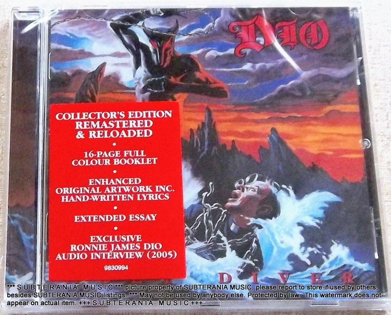 DIO Holy Diver Collector's Edition Remastered & Reloaded UK/EUROPE Cat#  9830994