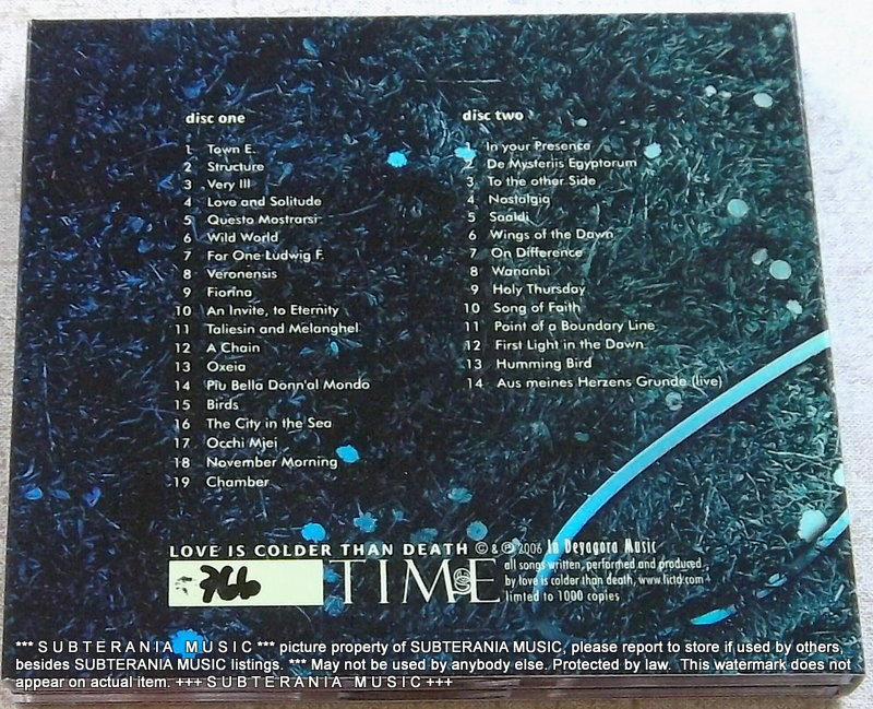 LOVE IS COLDER THAN DEATH Time [Best Of] 2CD GERMANY Cat# IDM 03/04