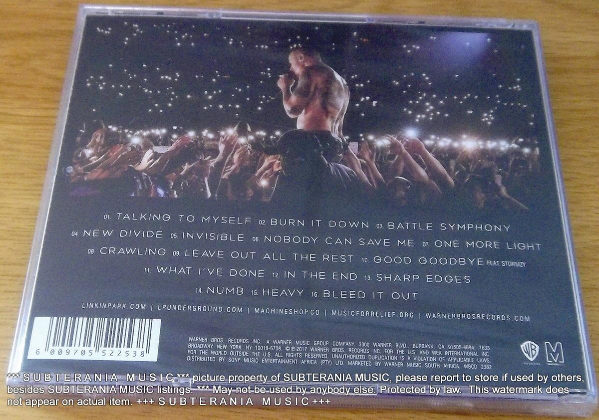 Linkin Park One More Light Live South Africa Cat Wbcd 2382 Subterania